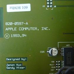 Apple Power Macintosh 7100 (particolare della scheda madre)