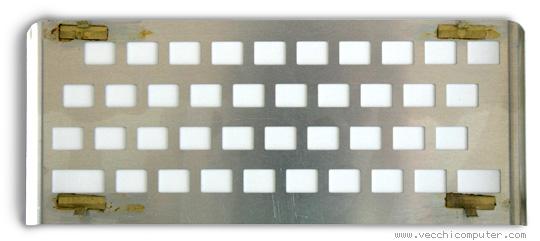 placca della tastiera dello ZX Spectrum (con ganci)