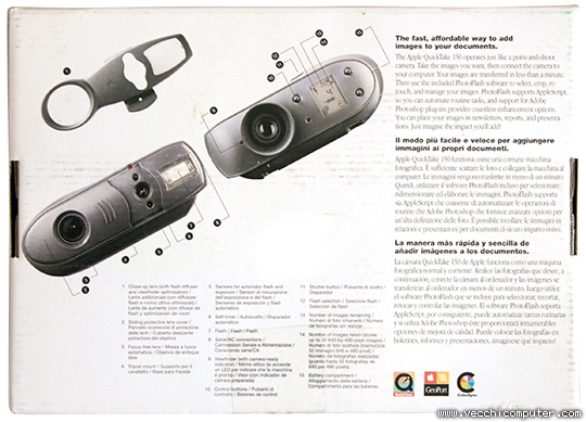 Apple QuickTake 150 (scatola, retro)