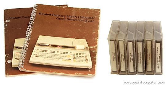 HP 9825B (manuali e nastri)