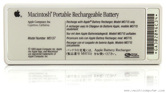 Apple Macintosh Portable - batteria