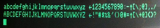 Commodore 8032 (Character ROM funzionante)
