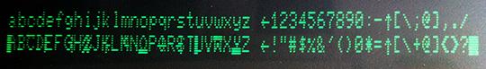 Commodore 8032 (Character ROM guasta)