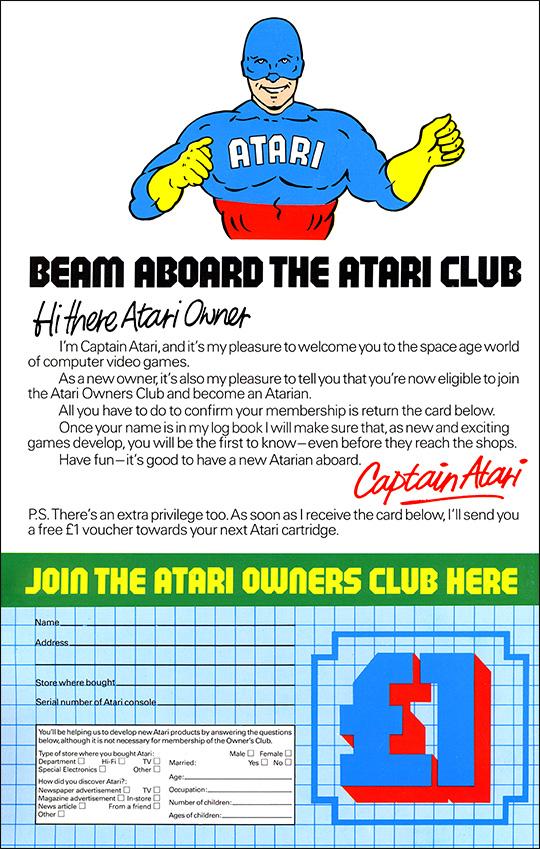 Atari 2600 - Beam aboard the Atari Club