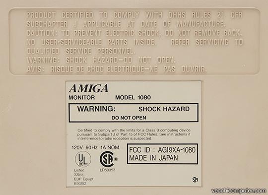 Commodore Amiga 1080 - Etichetta