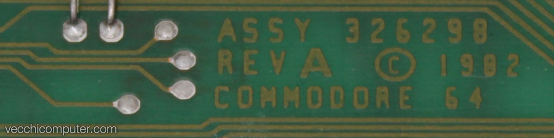 Commodore 64 - assembly no. 326298