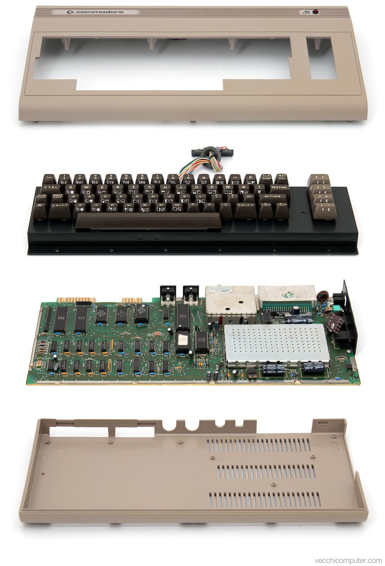 Commodore 64 - vista esplosa