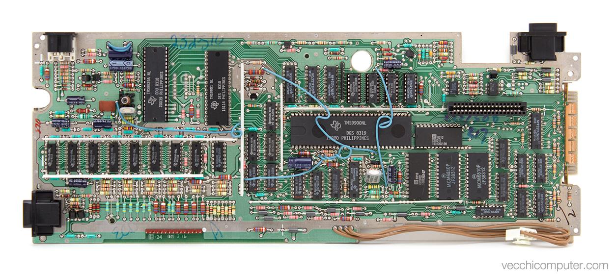 Texas Instruments TI-99/4a - scheda madre