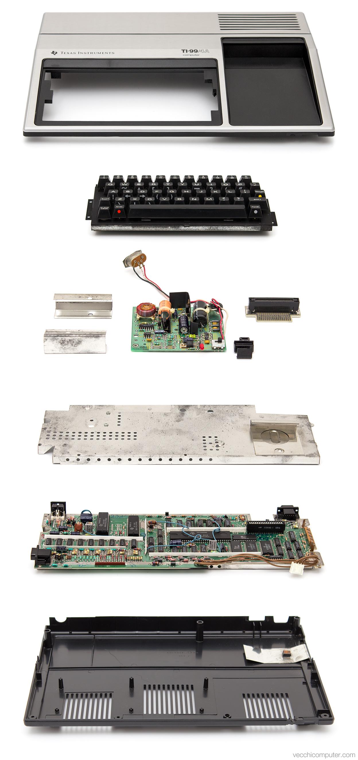 Texas Instruments TI-99/4A - vista esplosa