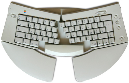 Apple Adjustable Keyboard - tastiera aperta