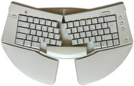 Apple Adjustable Keyboard - tastiera aperta