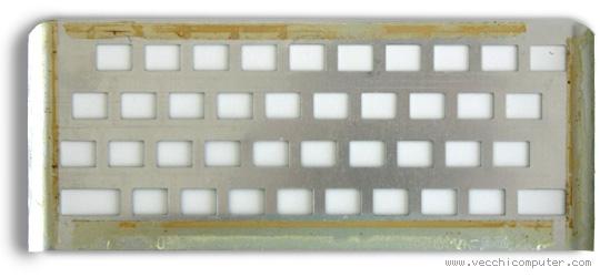 placca della tastiera dello ZX Spectrum (con la colla)