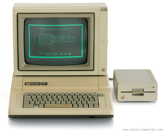 Apple IIe, Apple Monitor II, Apple 5.25 Drive