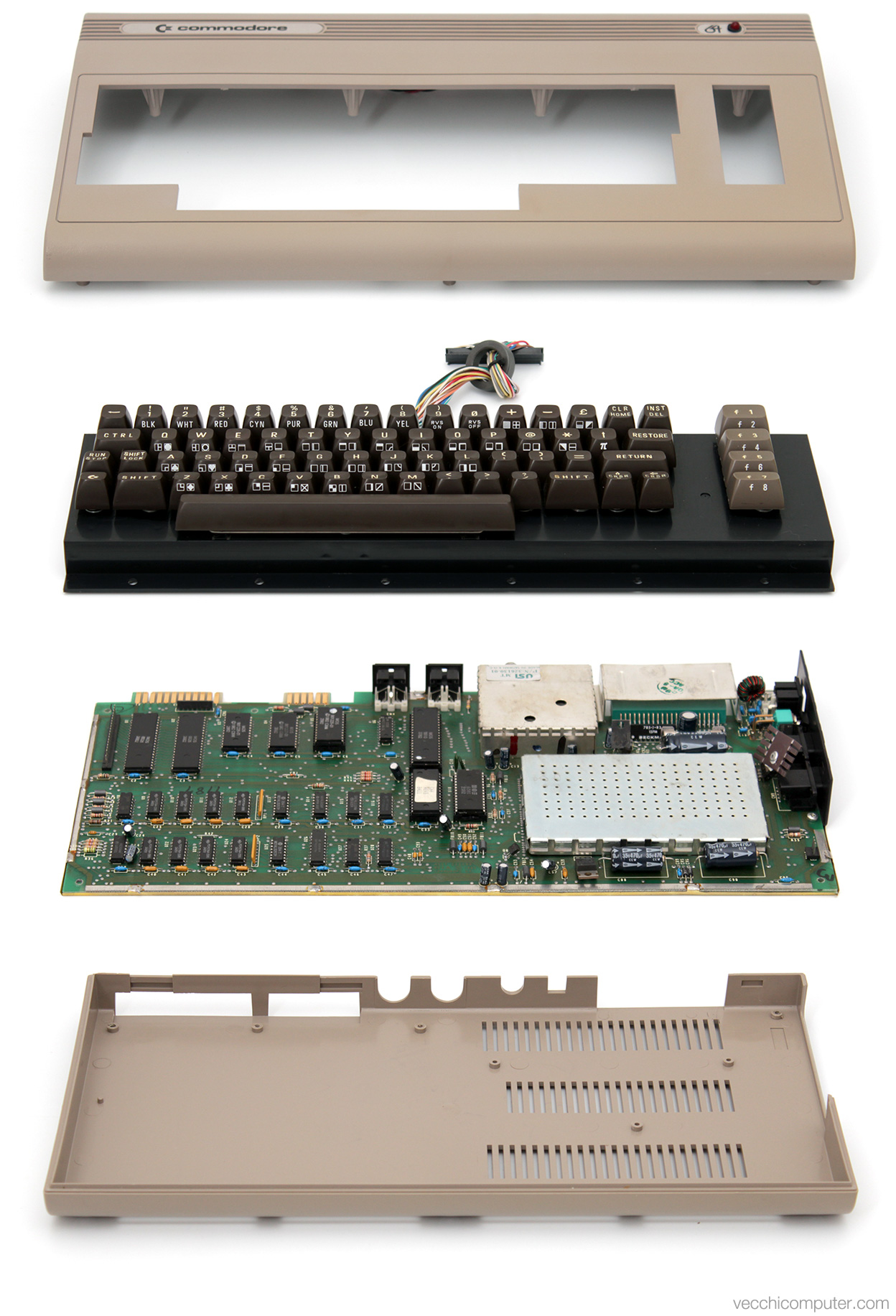 Commodore 64 - vista esplosa