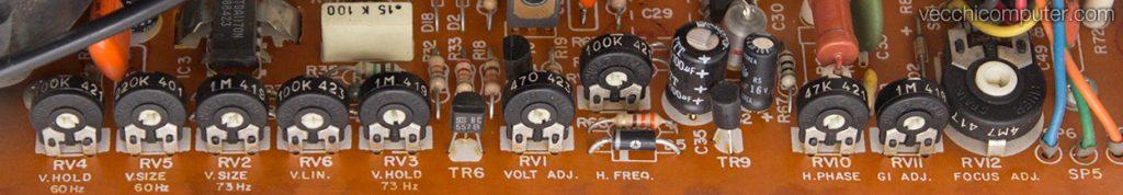 Olivetti M21 - regolazioni monitor