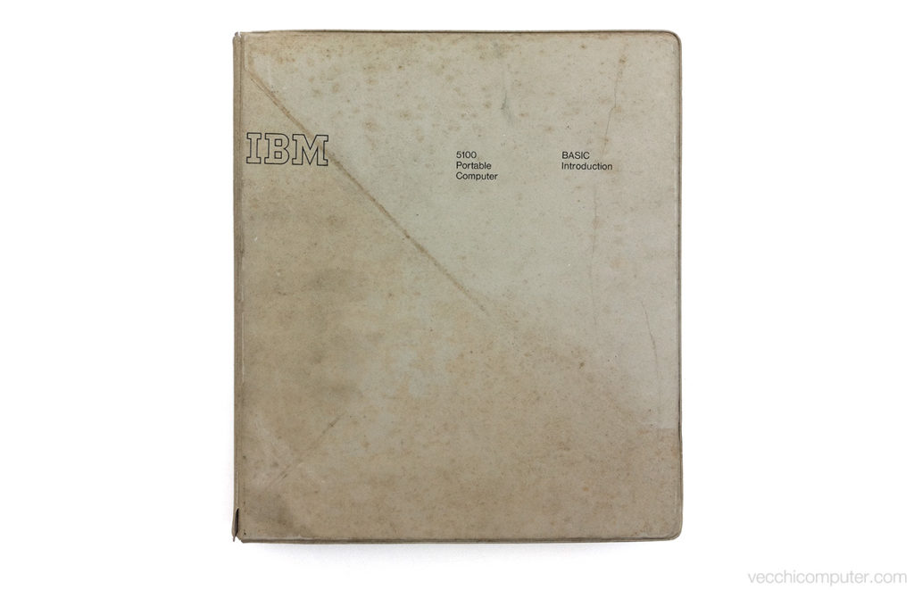 IBM 5100 - manuale sporco