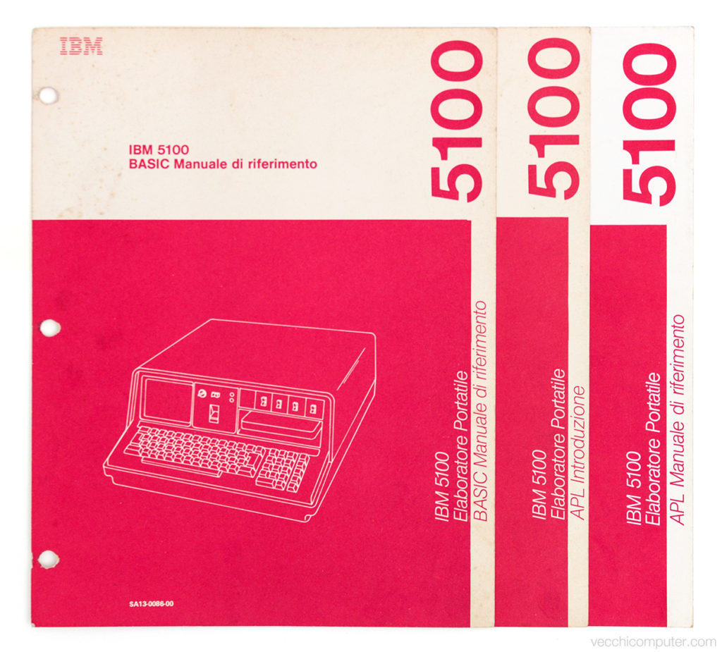 IBM 5100 - manuali in italiano