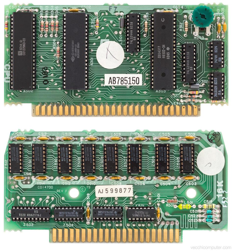Atari 400 scheda CPU e 16KB RAM