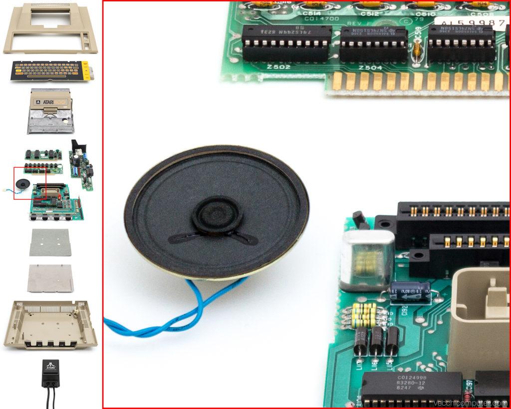 Atari 400 vista esplosa - dettaglio